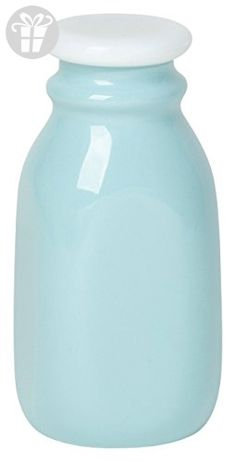 Now Designs Ceramic Milk Bottle, Eggshell Blue, Small (*Amazon Partner-Link)