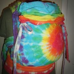 Tie dyed custom carrier by Ehmio Designs. Find them on Facebook. #ehmiodesigns