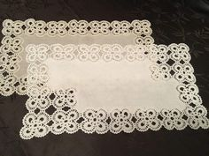 Etsy Natural Linen Doily Crochet White Beige Handmade Vintage Lace Table Runner Doily Table Centerpiece T