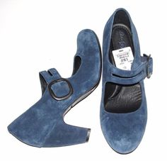 BORN~TEAL~SOFT SUEDE LEATHER *MARY JANE* COMFORT STACKED HEELS PUMPS SHOES~10 #BOCBorn #MaryJanesComfortStackedHeelsPumpsShoeBuckle #CareerWorkOfficeCocktailCasual