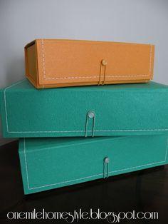 Green and Orange Storage Boxes