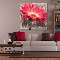 Ready2HangArt 'Painted Petals XLIII' Canvas Wall Art - 16977303 - Overstock.com…