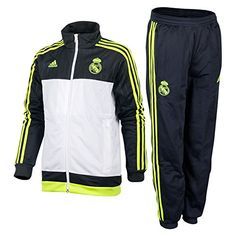 adidas Real Pes Suit Y Survêtement pour enfant, Real Madrid Pes, Gris / Lima / Blanco. #adidas #real_madrid #team_real_madrid #foot #football #supporter_attitude #football_attitude #sport_attitude #sport #enfant #jogging #survêtement