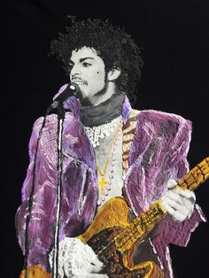 PRINCE TRIBUTE T-shirt ART TO WEAR of His Highness Prince Rogers Nelson