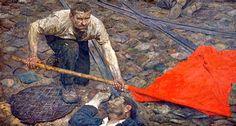 Recogiendo la bandera (1957-60) Gely Mikhailovich Korzhev-Chuvelev (1925)