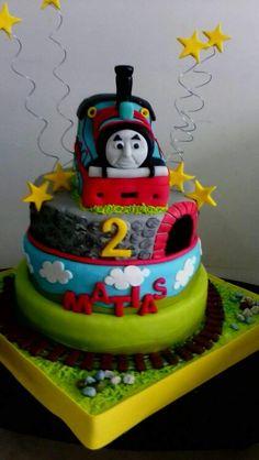 Pita1280 Thomas The Tank, 2nd Birthday, Clay, Desserts, Food, Clays, Tailgate Desserts, Deserts, Essen