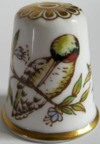 Spode Tropical Bird- Gold Apex