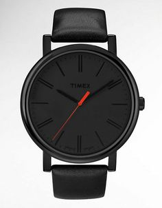 Jewelry & Accessories | Round | Ladies' Easy Reader Black Leather Watch | Lord and Taylor
