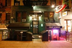pdt (please don't tell).  i've wanted to visit this bar for so long. you have to know where it is in nyc to go and dial a phonebooth in an old hot dog joint to get on the list. then the wall opens in the phone booth to let you in. AHHH! love it.