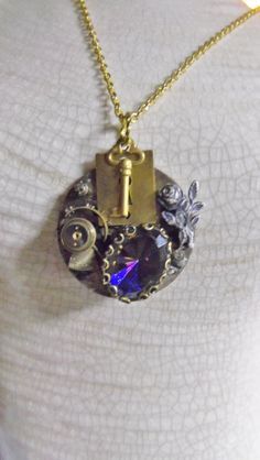 Steampunk Viroli Pocket Watch Pendant by Spiritracer on Etsy