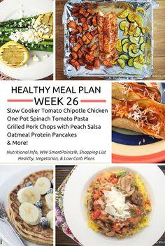 Healthy Meal Plans Week 26 - Slender Kitchen