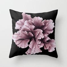 Pseudo Pompous Fleurs - Anais Pink Throw Pillow by Pseudo Pompous  - $20.00