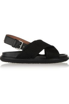 Marni Satin-twill slingback sandals | NET-A-PORTER