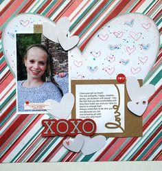 XOXO - Scrapbook.com - Hugs & Kisses Simple Set