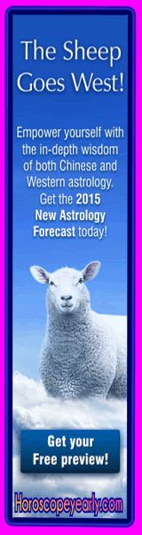 The sheep goes west in 2015 - According to ancient Chinese beliefs, the three great blessings of life are Luck, Prosperity and Longevity. This exclusive reading reveals where the blessings appear in your life. To start off with a free sample preview click here right now: http://www.horoscopeyearly.com/chinese-astrology-dragon/