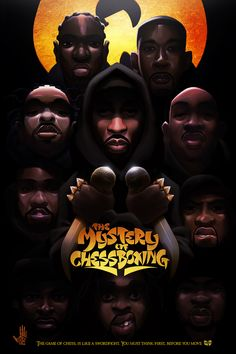 The Mystery of Chessboxing Art Print wu tang Arte Do Hip Hop, Hip Hop Art, Wu Tang Collection, Art Of Noise, Vintage Black Glamour, Japanese Tattoo Art, Black Cartoon, Wu Tang Clan, Music Pics