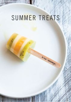 Favorite Summer Treats to Try – Kiwi-Orange Popsicles