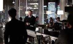 James Bond in Skyfall wearing John Smedley style Bobby in black