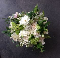 Natural green and white bouquet.