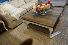 Coffee Table idea... barn wood to refurbished a coffee table