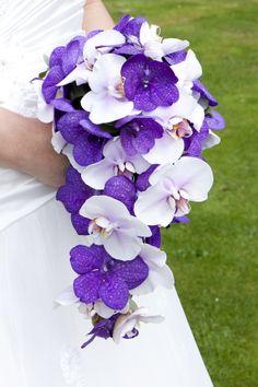 Bruidsboeket druppel met Vanda Orchideeën