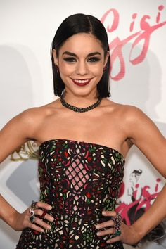 Beauty Lookbook: Vanessa Hudgens wearing Red Lipstick (23 of 28). Vanessa Hudgens completed her striking beauty look with a glossy red lip.