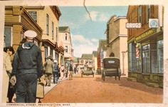 Postcard Time Machine • Commercial Street, Provincetown, Mass.