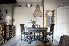 Дровяная печь, винтажный стол и овечка: необычный интерьер в Швеции (44 кв. м) | Пуфик - блог о дизайне интерьера