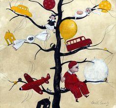 Illustration originale de Carll Cneut - RougeJauneNoirBlanche 2 | Oeuvres | Galerie Robillard