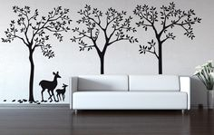 Wall Decal  Urban Forest decal removable matte wall by CherryWalls, $159.00