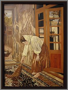 """Amazing Marquetry from an artist in Iran. """"The Morning of a Day"""""""