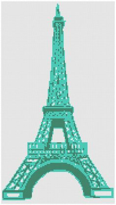 Funky Eiffel Tower a Counted Cross Stitch by WooHooCrossStitch