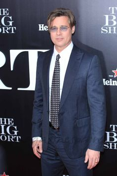 "Brad Pitt  en el estreno de ""The Big Short"""
