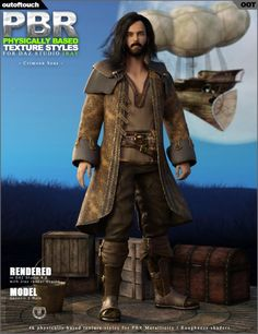 OOT PBR Texture Styles for Crimson Seas | Clothing for Poser and Daz Studio