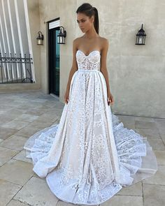 e6155676 A sweetheart wedding gown with gorgeous embroidery and full skirt //  Yesterday, you saw our Asia Exclusive: Berta Fall/Winter 2018 Seville  Bridal Collection ...