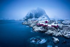 Hi everyone ,here is another one from Hamnoy the small fishing village in in the municipality of Moskenes in Nordland county  ,this time with different weather conditions (light snow ) .