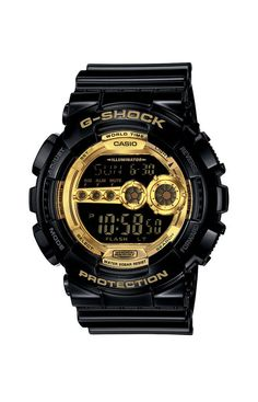 G-Shock, GD-100GB Watch - Black / Gold at MOOSE Limited