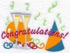 Congratulations design (C2269) from www.Emblibrary.com