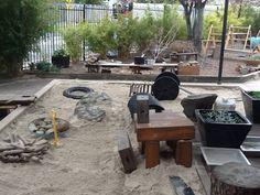 Reggio Emilia Information Exchange Australia Reggio Emilia, Sand Play, Backyard, Patio, Sandbox, Playground, Outdoor Decor, Outdoor Ideas, Construction