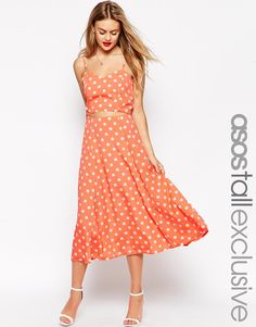 ASOS TALL Midi Dress In Spot Print