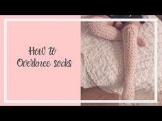 Thigh High Socks Patterns, Over the Knee Socks Patterns and Knee High Socks Patterns. Baby Booties Free Pattern, Crochet Socks Pattern, Crochet Motif, Crochet Stitches, Crochet Hooks, Crochet Baby, Free Crochet, Crochet Patterns, Crochet Edgings