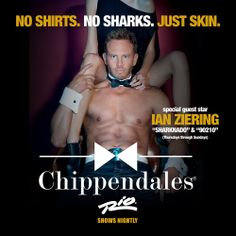 #Sharknado & 90210 Star, Ian Ziering, will be heating up the @Chippendales®® stage in #Vegas once again June 12th – July 20th! Tickets on sale now at chippendales.com