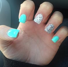 perfect prom nails!