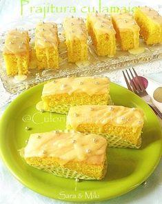 Lemon cake (translator on sidebar) Food Cakes, Cupcake Cakes, Luscious Lemon Delight, Afternoon Tea Cakes, Sour Taste, Sheet Cake Recipes, Chocolate Biscuits, Different Cakes, Cake Bars