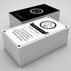 Retro Nautical Anchor Monogrammed Business Card Templates