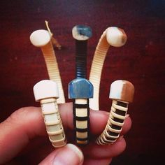 """More 1/4"""" cuffs part of the 15% off sale Left to right: hand-carved antique ivory cuff with ivory end caps, black cane cuff with fossilized walrus ivory end caps and hand-carved walnut cuff with fossilized walrus ivory end caps...all on sale! #valentinesgift #giftideas #handmadejewelry #wedding #bridesmaid #capecod #nantucket #boho #braceletsoftheday #braceletstacks #nantucketbracelets"""