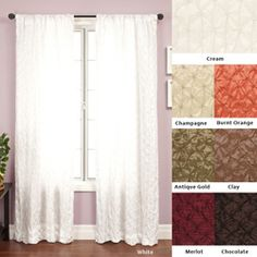 @Overstock - Adding elegance and grace to any room, this taffeta 96-inch curtain panel comes in many soft and deep colors, which will accent the walls of any room. A mix of sheer and opaque, these curtains will keep your room bright without too much sun.http://www.overstock.com/Home-Garden/Zanzibar-Rod-Pocket-96-inch-Curtain-Panel/4154972/product.html?CID=214117 $38.49