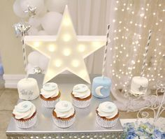 Twinkle Twinkle Little Star Boy Baby Shower TheIcedSugarCookie.com Angie's Dream Decorations