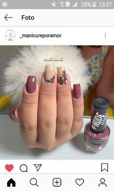 Nail designs Cute Nail Art, Cute Nails, Pretty Nails, Bling Nails, My Nails, Nail Ring, Cute Nail Designs, Nail Stamping, Gorgeous Nails