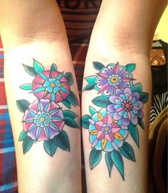 Some ornate/old school flowers. By Jeremy at Sink or Swim Tattoos, Aurora ON.